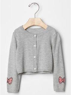 babyGap + Peanuts® bow-sleeve cardigan | Gap