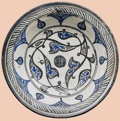 Plate  Syria, 13th Century Faience; painting. Diameter 26 cm The State Hermitage Museum