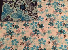 Large Baby Blanket, Receiving Blanket, Blue, White, Teal, Grey, Flowers, Butterflies, Swaddle, Reversible, Baby Shower Gift by QuinnsBin on Etsy https://www.etsy.com/listing/252058046/large-baby-blanket-receiving-blanket