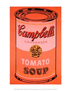Campbell's Soup Can, c.1965 (Orange) Print by Andy Warhol at Art.com