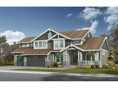 Fieldcrest Arts and Crafts Home - House Plan #592-071D-0083 - 2,560 sq. ft. - 3 bed, 2.5 bath