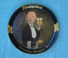 Vintage - Hampden Brewing Co Of Willimansett - Mass - USA - Tray - 1934