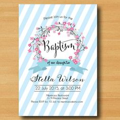 First Communion Invitation or Baptism Invitation by miprincess