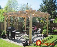 Trellis cover for the patio Garden Club, Trellis, My House, Outdoor Living, Pergola, Home Improvement, Backyard, Outdoor Structures, Outdoor Ideas