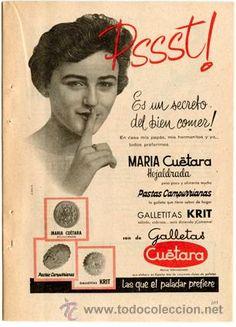 Página de publicidad Original *Galletas CUÉTARA* De Agencia Publicidad DANIS - Año 1960