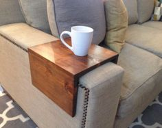Couch Tray Handmade Custom fit Wood Sofa by MMsWoodworkandDesign