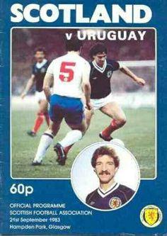 Scotland 2 Uruguay 0 in Sept 1983 at Hampden Park. The programme cover #Friendly
