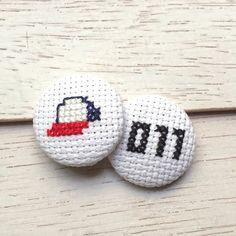 Stranger Things Inspired Sampler Magnet Pin Cross Stitch Pattern Download