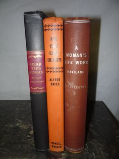 Vintage Books   Set of 3  Coffee Table or Nightstand Books Women Great Titles