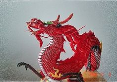 3D Origami - Dragon. This is just amazing... wonder how long that took..