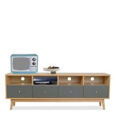 Meuble TV design scandinave 4 tiroirs Skoll_