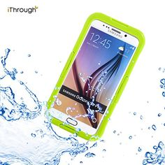 Rose, pink, turqoise, blue...Galaxy S6 Edge Plus Waterproof Case, iThroughTM Galaxy S6 Edge Plus Waterproof Case, Dust Proof, Snow Proof, Shock Proof Case, Heavy Duty Protective Cover Case for Galaxy S6 Edge Plus (Green)