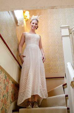 Ravelry: Silvermine pattern by Stephanie Klose. OUTSTANDING knit wedding dress