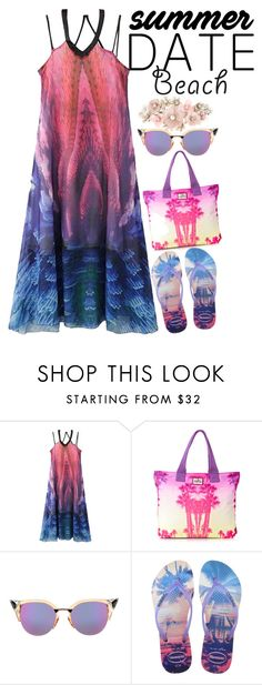 """""""Untitled #244"""" by xo-panda-xo on Polyvore featuring WithChic, Superdry, Fendi, Havaianas, Accessorize, beach and summerdate"""