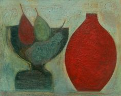 Pears, Grapes and Red Pot, (2011) by Vivienne Williams
