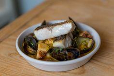 Seafood & Bean Stew, Octopus, Mussels, Seabass