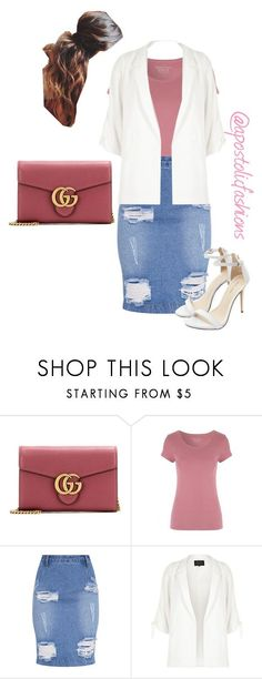 """""""Apostolic Fashions #1726"""" by apostolicfashions ❤ liked on Polyvore featuring Gucci and River Island"""