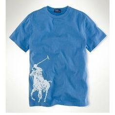 Ralph Lauren Men White Big Pony Short Sleeved Blue Polo [rl 722] - £24.35 : Ralph Lauren Polo Outlet UK   http://2015pololove.tumblr.com/