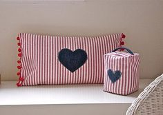 heart cushion doorstop