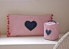 heart cushion doorstop