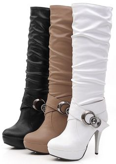 Winter..oh yeah black style, fashion, color, high heel boots, boot platform, black white, heels, boot black, shoe