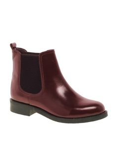 Free Shipping  ATHENS Leather Chelsea Ankle Boots