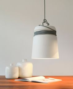 Mega Bulb Silver Suspension And Tradition Verre Fume Cordon Noir