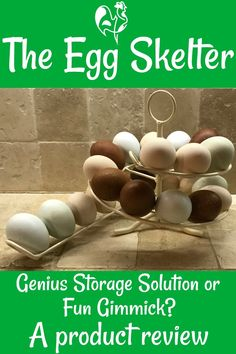The Egg Skelter - genius or gimmick? Find out here! Chicken Items, Chicken Feed, Chicken Eggs, Egg Skelter, Chicken Egg Colors, Egg Facts, Storing Eggs, Chicken Pumpkin, Raising Farm Animals