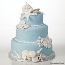 Great Ideas for the Busy Little Bride: Beach Theme Wedding Cakes! Beach Themed Cakes, Beach Cakes, Themed Wedding Cakes, Wedding Cake Decorations, Cupcakes, Cupcake Cookies, Beautiful Wedding Cakes, Beautiful Cakes, Dream Wedding