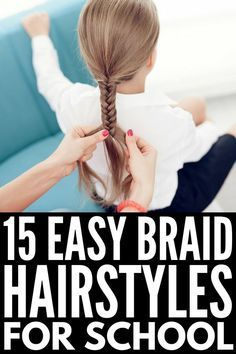 15 Braided Hairstyles for School Perfect for kids and teens this collection of easy step by step tutorials will not disappoint From how to French braid hair to simple Du. Box Braids Hairstyles, Braided Hairstyles For School, French Braid Hairstyles, Braided Hairstyles Tutorials, Hairstyles 2016, Latest Hairstyles, Easy Braided Hairstyles, Kids School Hairstyles, Easy Hairstyles For Kids