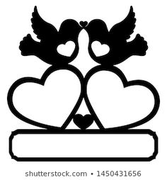 Imagens, fotos stock e vetores similares de frame with a decorative heart and birds for laser cutting - 1450431656 Princess Silhouette, Couple Silhouette, Silhouette Design, Love Birds Drawing, Floral Drawing, Laser Cutter Projects, Wedding Cards Handmade, Giant Paper Flowers, Stencil Patterns