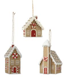 Gingerbread House Ornaments to buy Gingerbread House Parties, Christmas Gingerbread, Gingerbread Houses, Christmas Baking, Christmas Fun, Christmas Decorations, Christmas Projects, Holiday Crafts, Christmas Cookies