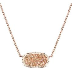 Elisa Pendant Necklace in Champagne Drusy - Kendra Scott Jewelry ($65) ❤ liked on Polyvore featuring jewelry, necklaces, kendra scott necklace, kendra scott, druzy pendant necklace, layered necklace and champagne necklace
