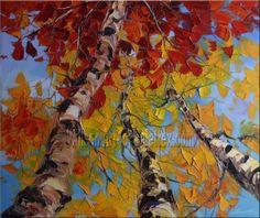 traditional artwork Original Textured Palette Knife Landscape Painting by Willson Art Landscape Art Quilts, Landscape Artwork, Klimt, Traditional Artwork, Palette Knife Painting, Art Plastique, Elementary Art, Tree Art, Art Techniques