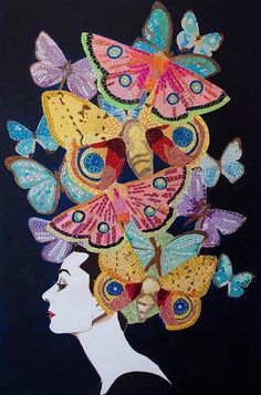 Audrey With Bejeweled Butterflies