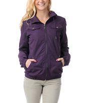 7ba7d8fb530 Empyre Girl Frisco Blackberry Purple Windbreaker Jacket Purple Jacket