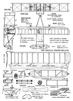 Hermanos Wright, Bici Retro, Rc Plane Plans, Wright Flyer, Gliders, Scale Models, Aircraft, Engineering, Diagram
