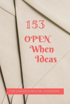 Open When Letter Ideas