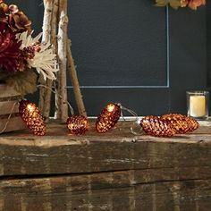 Bronze Pine Cone LED Bulbs from Through the Country Door | NW742038