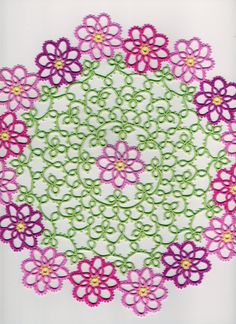 pretty pattern. You could take the flower out of this pattern and do so many things with it....