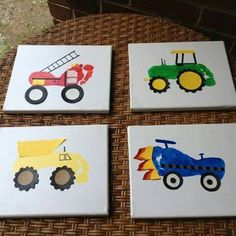 Footprint paint - I like the tractor