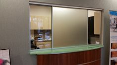 office sliding window. Frosted Horizontal Roller Reception Window Office Sliding