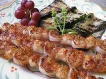 Shrimp & Scallops Skewers with 2 1/2 Tbsps Paprika 2 Tbsps salt 1 Tbsp black pepper 1 Tbsp onion powder 1 Tbsp dried oregano, crushed 1 Tbsp dried thyme, crushed 1 tsp cayenne pepper (or more to taste)