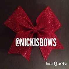 Red Sparkly Cheer Bow by NickisBow on Etsy