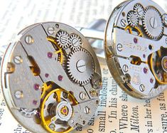 Watch Cufflinks, Mens Cufflinks, Watch Movement Cufflinks, Vintage Cufflinks, Steampunk Watch Cufflinks, Boyfriend Gift Tap link now to find the products you deserve. We believe hugely that everyone should aspire to look their best. You'll also get up to 30% off plus FREE Shipping. Amazing!