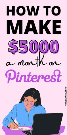 Learn how to make money on Pinterest with or without a blog. Make $5000 passive income every month with Pinterest while working from home. #makemoneyonpinterest #workfromhome Earn More Money, Make Money Blogging, Make Money Online, Work From Home Moms, Make Money From Home, Way To Make Money, Online Income, Online Jobs, Midlife Career Change