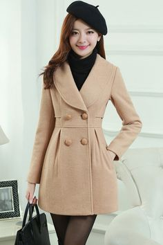 Everyday Double-Breasted Wool Coat - OASAP.com