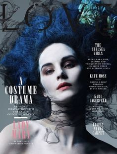 Lady Mary (Michelle Dockery for LOVE magazine's Downton Abbey editorial)