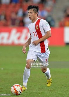 Hao Junmin of China in action during the 2015 Asian Cup match between China PR and Uzbekistan at Suncorp Stadium on January 14 2015 in Brisbane...