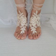 Hey, I found this really awesome Etsy listing at https://www.etsy.com/listing/466260883/beaded-champagne-lace-wedding-sandals